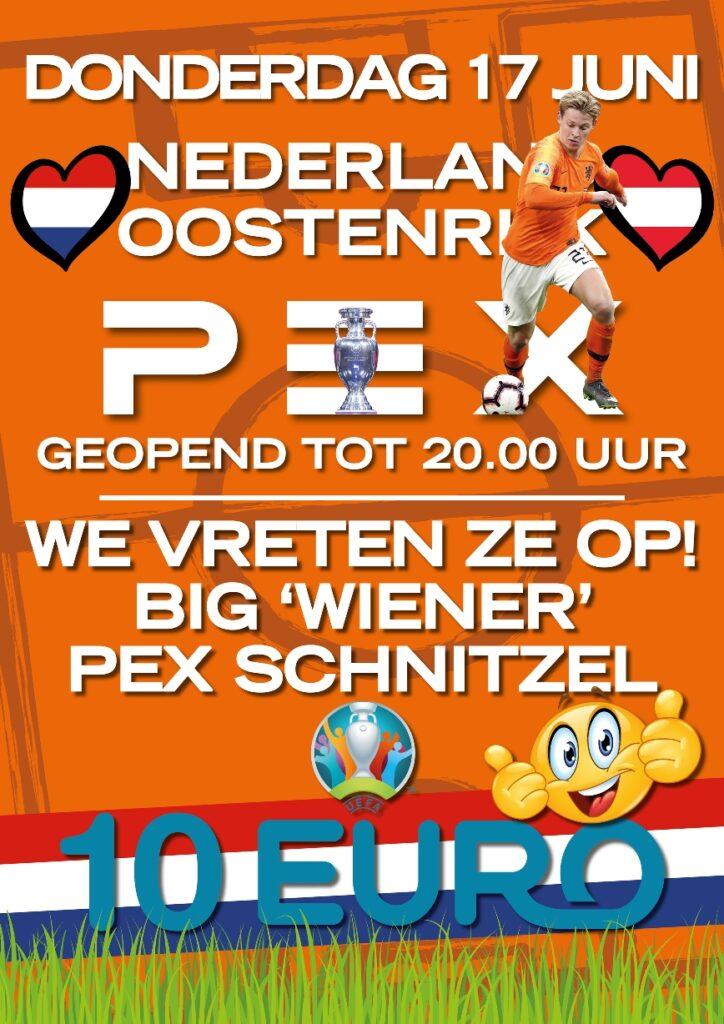 pex ek nederland wedstrijd schnitzel